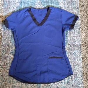 NRG by barco scrub top small navy and black